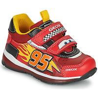 Schoenen Jongens Lage sneakers Geox TODO Rood / Geel
