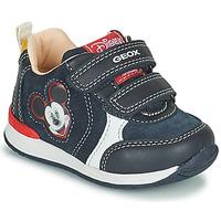 Schoenen Jongens Lage sneakers Geox RISHO Marine