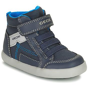 Schoenen Jongens Hoge sneakers Geox GISLI Marine
