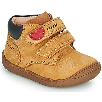 Schoenen Jongens Laarzen Geox MACCHIA Brown