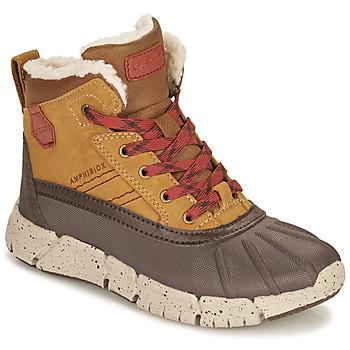 Schoenen Jongens Laarzen Geox FLEXYPER ABX Brown