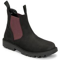 Schoenen Jongens Laarzen Geox SHAYLAX Zwart / Bordeaux