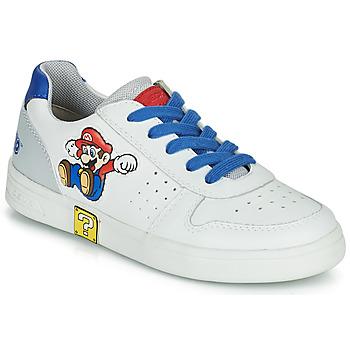Schoenen Jongens Lage sneakers Geox DJROCK Wit / Blauw