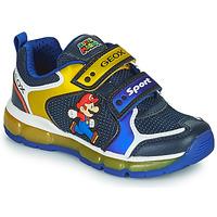 Schoenen Jongens Lage sneakers Geox ANDROID Blauw / Geel