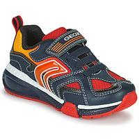 Schoenen Jongens Lage sneakers Geox BAYONYC Marine / Orange