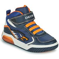 Schoenen Jongens Hoge sneakers Geox INEK Marine / Orange
