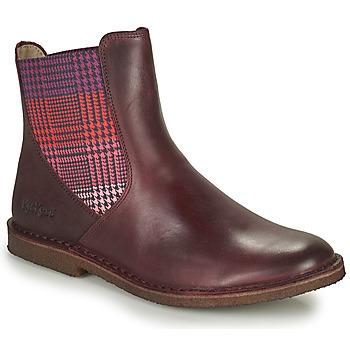 Schoenen Dames Laarzen Kickers TINTO Bordeaux / Donker