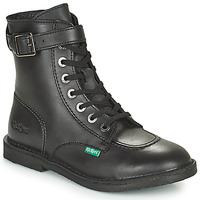 Schoenen Dames Laarzen Kickers KICK TREND Zwart