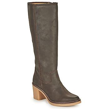 Schoenen Dames Hoge laarzen Kickers AVEDRIM Brown