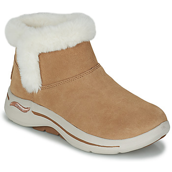 Schoenen Dames Laarzen Skechers GO WALK ARCH FIT Brown