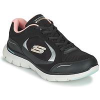 Schoenen Dames Lage sneakers Skechers FLEX APPEAL 4.0 Zwart / Roze