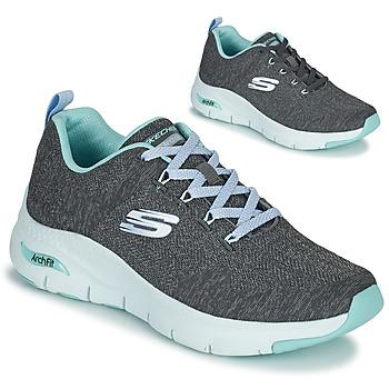 Schoenen Dames Lage sneakers Skechers ARCH FIT Grijs / Blauw