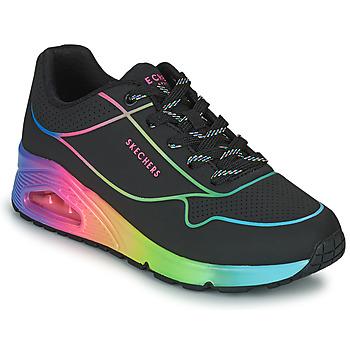 Schoenen Dames Lage sneakers Skechers UNO Zwart / Multicolour