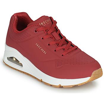 Schoenen Dames Lage sneakers Skechers UNO STAND ON AIR Rood