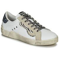 Schoenen Dames Lage sneakers Meline NK139 Wit / Glitter / Blauw