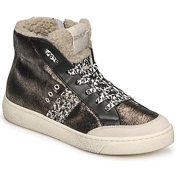Schoenen Dames Hoge sneakers Meline CAR1425 Zwart