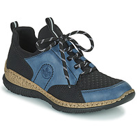 Schoenen Dames Lage sneakers Rieker MEDONNA Blauw / Zwart