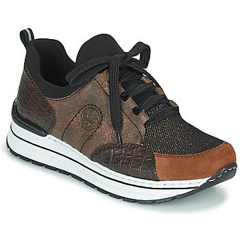 Schoenen Dames Lage sneakers Rieker TEMPORA Brown