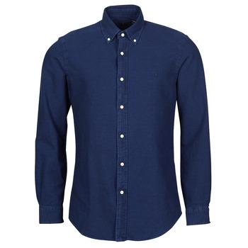 Textiel Heren Overhemden lange mouwen Polo Ralph Lauren TRENNYB Velours / Blauw