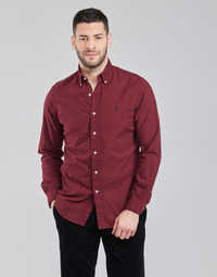 Textiel Heren Overhemden lange mouwen Polo Ralph Lauren KAOLMA Bordeaux