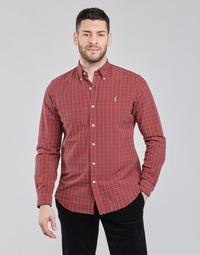 Textiel Heren Overhemden lange mouwen Polo Ralph Lauren TALIKA Rood / Multicolour