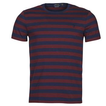 Textiel Heren T-shirts korte mouwen Polo Ralph Lauren POLINE Marine / Bordeaux