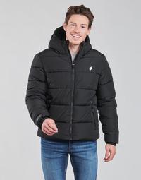Textiel Heren Dons gevoerde jassen Superdry HOODED SPORTS PUFFER Zwart