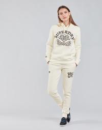 Textiel Dames Trainingsbroeken Superdry PRIDE IN CRAFT JOGGER Ecru