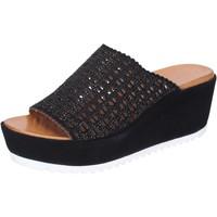 Schoenen Dames Leren slippers Femme Plus BJ890 Noir