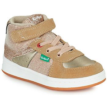 Schoenen Meisjes Hoge sneakers Kickers BILBON MID Beige