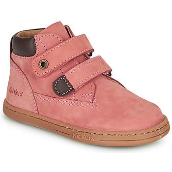 Schoenen Meisjes Laarzen Kickers TACKEASY Roze