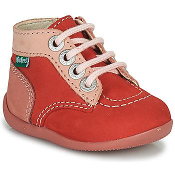 Schoenen Meisjes Laarzen Kickers BONZIP-2 Roze