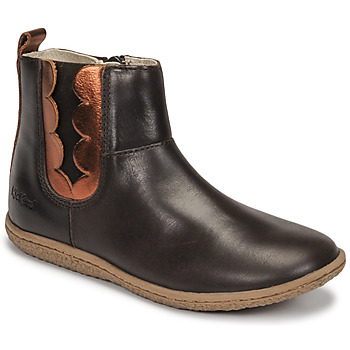 Schoenen Meisjes Laarzen Kickers VETUDI Brown