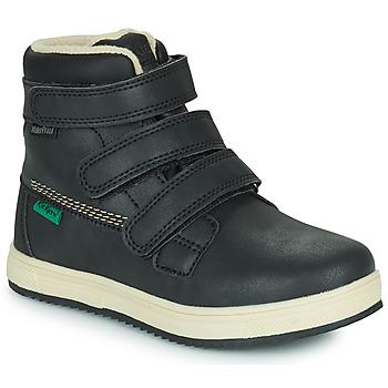 Schoenen Kinderen Laarzen Kickers YEPOKRO WPF Zwart