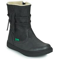 Schoenen Meisjes Laarzen Kickers RUMBY Zwart
