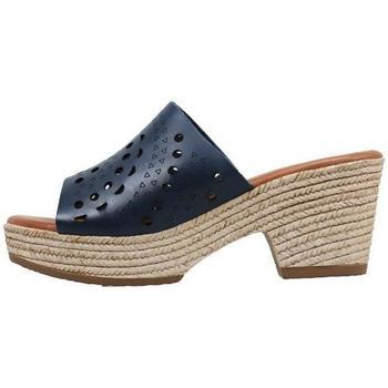 Schoenen Dames Leren slippers Sandra Fontan  Blauw