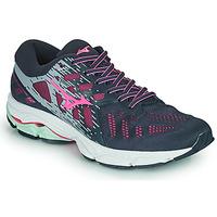 Schoenen Dames Running / trail Mizuno WAVE ULTIMA 11 Blauw / Roze