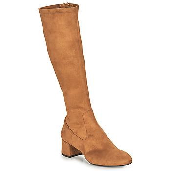 Schoenen Dames Hoge laarzen Unisa LARTI  camel