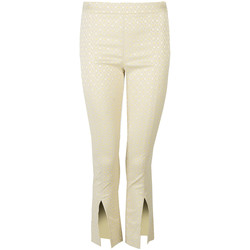 Textiel Dames Broeken / Pantalons Patrizia Pepe  Geel