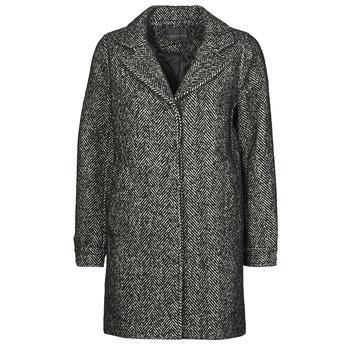 Textiel Dames Mantel jassen Chattawak WORKA Grijs / Zwart