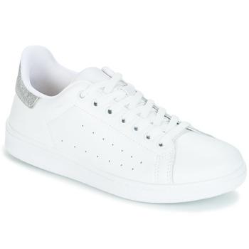 Schoenen Dames Lage sneakers Yurban SATURNA Wit / Zilver
