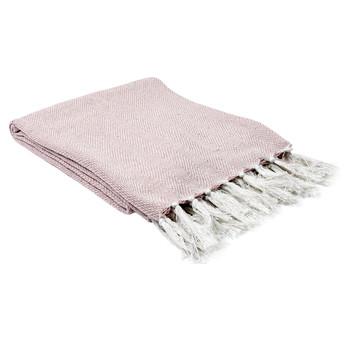 Wonen Plaids, deken The home deco factory SOPHIE Wit-roze / Pale