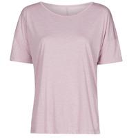 Textiel Dames T-shirts korte mouwen Nike NIKE YOGA Violet