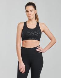 Textiel Dames Sport BHs Nike W NP DF SWSH LEPARD SHINE BRA Zwart