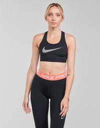 Textiel Dames Sport BHs Nike W NK DF SWSH ICNCLSH GX BRA Zwart / Wit
