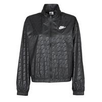 Textiel Dames Windjacken Nike W NSW WVN GX JKT FTRA Zwart / Wit