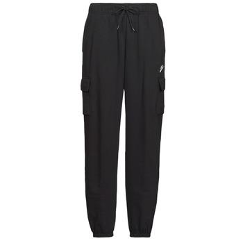Textiel Dames Trainingsbroeken Nike W NSW ESSNTL FLC MR CRGO PNT Zwart / Wit