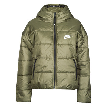 Textiel Dames Dons gevoerde jassen Nike W NSW TF RPL CLASSIC HD JKT Kaki / Wit
