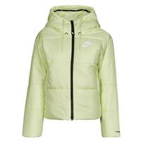 Textiel Dames Dons gevoerde jassen Nike W NSW TF RPL CLASSIC TAPE JKT Groen / Zwart / Wit