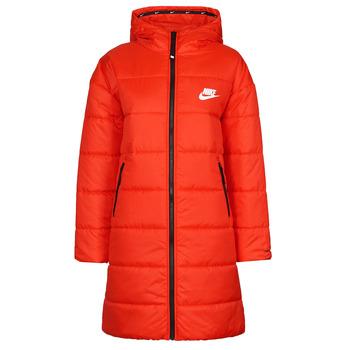 Textiel Dames Dons gevoerde jassen Nike W NSW TF RPL CLASSIC HD PARKA Rood / Zwart / Wit